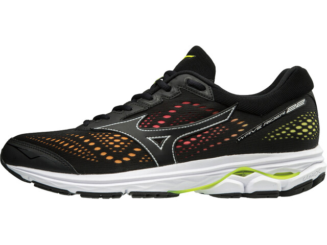 Mizuno Wave Rider 22 Osaka Running Shoes Men black/black/safety yellow